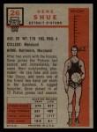 1957 Topps #26  Gene Shue  Back Thumbnail