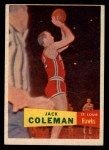 1957 Topps #70  Jack Coleman  Front Thumbnail