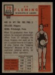 1957 Topps #79  Ed Fleming  Back Thumbnail