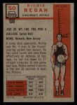1957 Topps #50  Richie Regan  Back Thumbnail