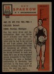 1957 Topps #38  Guy Sparrow  Back Thumbnail