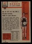 1957 Topps #37  Cliff Hagan  Back Thumbnail