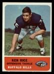 1962 Fleer #17  Ken Rice  Front Thumbnail