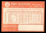 1964 Topps #483  Fred Valentine  Back Thumbnail