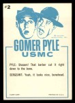 1965 Fleer Gomer Pyle #2   You Mean They Taught Him Back Thumbnail