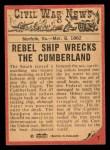 1965 A and BC England Civil War News #7   Death at Sea Back Thumbnail