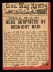 1965 A and BC England Civil War News #36   Midnight Raid Back Thumbnail