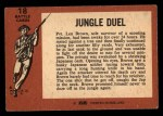 1966 A and BC England Battle #18   Jungle Duel Back Thumbnail