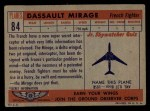 1957 Topps Planes #84 RED  Dassault Mirage Back Thumbnail