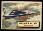 1957 Topps Planes #84 RED  Dassault Mirage Front Thumbnail