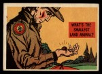 1957 Topps Isolation Booth #23   Smallest Land Animal Front Thumbnail