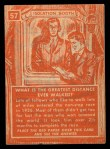 1957 Topps Isolation Booth #57   Greatest Non-Stop Distance Ever Walked Back Thumbnail