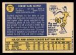 1970 Topps #371  Rod Gaspar  Back Thumbnail