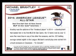 2014 Topps Update #176  Michael Brantley   Back Thumbnail