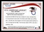 2014 Topps Update #198   -  Adam Jones  All-Star Back Thumbnail