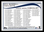 2014 Topps Update #250   -  Yu Darvish  Checklist 4 - Baseball Highlights - Fastest to Reach 500 MLB Strikeouts Back Thumbnail