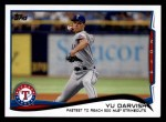 2014 Topps Update #250   -  Yu Darvish  Checklist 4 - Baseball Highlights - Fastest to Reach 500 MLB Strikeouts Front Thumbnail