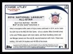 2014 Topps Update #292   -  Chase Utley  All-Star Back Thumbnail