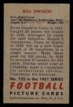 1951 Bowman #132  William Swiacki  Back Thumbnail