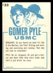 1965 Fleer Gomer Pyle #23   Don't Look So Miserable Back Thumbnail