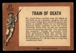 1966 A and BC England Battle #27   Train Of Death Back Thumbnail