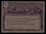 1973 Topps You'll Die Laughing #51   If you want anything Back Thumbnail