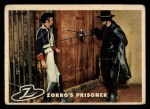 1958 Topps Zorro #19   Zorros Prisoner Front Thumbnail