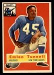 1956 Topps #17  Emlen Tunnell  Front Thumbnail