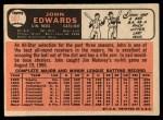 1966 Topps #507  Johnny Edwards  Back Thumbnail