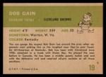 1961 Fleer #19  Bob Gain  Back Thumbnail