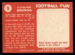 1958 Topps #9   Browns Team Back Thumbnail