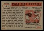 1956 Topps #111  Dale Dodrill  Back Thumbnail