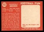 1958 Topps #102  Roosevelt Brown  Back Thumbnail