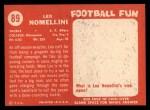 1958 Topps #89  Leo Nomellini  Back Thumbnail