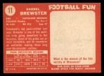 1958 Topps #11  Pete Brewster  Back Thumbnail