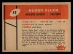 1960 Fleer #48  Buddy Allen  Back Thumbnail