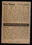 1954 Parkhurst #20  Fern Flaman  Back Thumbnail