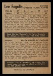 1954 Parkhurst #84  Lee Fogolin  Back Thumbnail