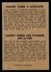 1954 Parkhurst #95   -  Doug Harvey Harvey Takes a Nosedive Back Thumbnail