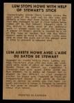 1954 Parkhurst #92   -  Harry Lumley / Gordie Howe / Ron Stewart Lum Stops Howe Back Thumbnail