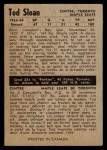 1954 Parkhurst #30  Tod Sloan  Back Thumbnail