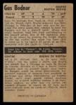 1954 Parkhurst #62  Gus Bodnar  Back Thumbnail