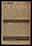 1954 Parkhurst #26  Leo Boivin  Back Thumbnail