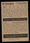 1954 Parkhurst #78  Al Dewsbury  Back Thumbnail