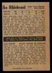 1954 Parkhurst #83  Ike Hildebrand  Back Thumbnail
