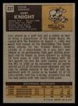1971 Topps #237  Curt Knight  Back Thumbnail
