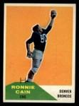 1960 Fleer #114  Ronnie Cain  Front Thumbnail