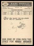 1959 Topps #107  Babe Parilli  Back Thumbnail