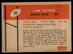 1960 Fleer #31  Jim Yates  Back Thumbnail