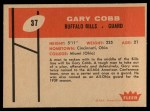 1960 Fleer #37  Gary Cobb  Back Thumbnail